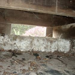 A crawl space vent in Hyde Park that's bringing moisture into the home