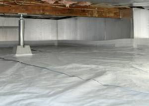 A sealed, insulated, and structurally repaired Hyde Park crawl space