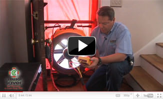 Air sealing and blower door test by your local Dr. Energy Saver in Salt Point